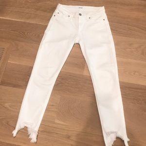 Hudson Jeans Tally Midrise Skinny Crop 25 White
